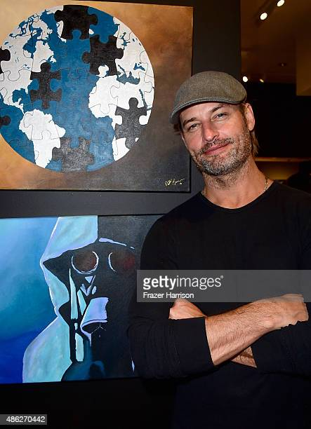 Actor Josh Holloway attends VIP Opening Reception For 'DisEase' An Evening Of Fine Art With Billy Morrison at Mouche Gallery on September 2 2015 in...