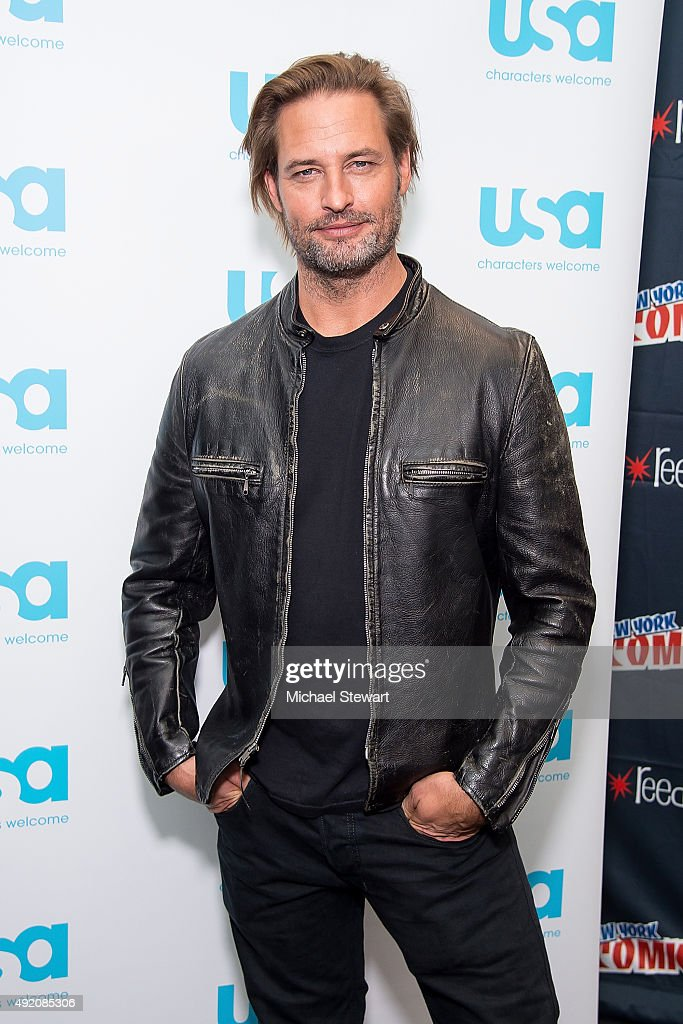 Actor Josh Holloway poses in the press room for the 'Colony' panel during New York Comic-Con Day 2 at The Jacob K. Javits Convention Center on October 9, 2015 in New York City.
