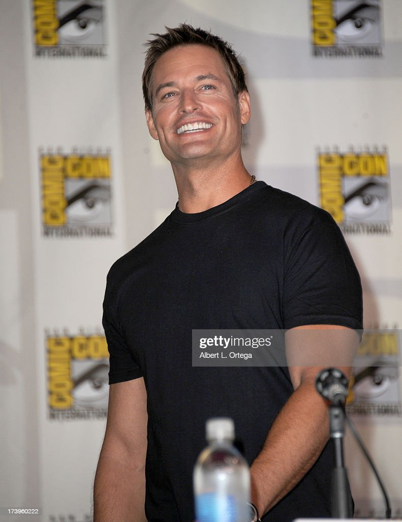 Actor <a gi-track='captionPersonalityLinkClicked' href=/galleries/search?phrase=Josh+Holloway&family=editorial&specificpeople=458791 ng-click='$event.stopPropagation()'>Josh Holloway</a> speaks onstage at the 'Intelligence' panel during Comic-Con International 2013 at San Diego Convention Center on July 18, 2013 in San Diego, California.