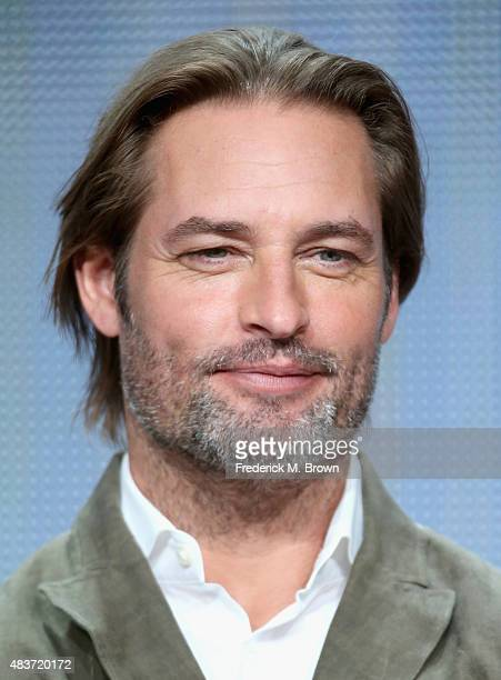 Actor Josh Holloway speaks onstage during the USA Networks' 'Colony' panel discussion at the NBCUniversal portion of the 2015 Summer TCA Tour at The...