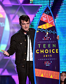 Actor Josh Hutcherson accepts the Choice Movie Actor SciFi/Fantasy Award for The Hunger Games Mockingjay Part 1 onstage during the Teen Choice Awards...