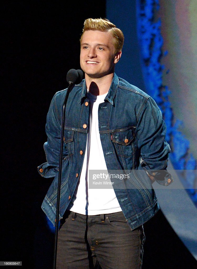 Actor Josh Hutcherson appears onstage at CBS' Teachers Rock Special live concert at the Nokia Theatre L.A. Live on August 14, 2012 in Los Angeles, California.