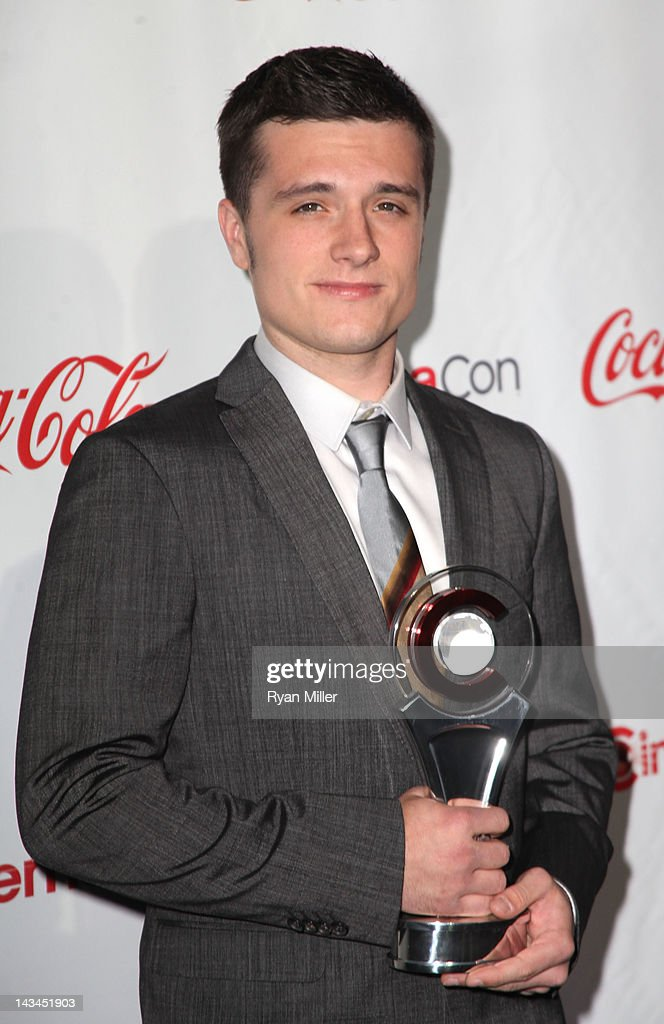 Actor <a gi-track='captionPersonalityLinkClicked' href=/galleries/search?phrase=Josh+Hutcherson&family=editorial&specificpeople=673588 ng-click='$event.stopPropagation()'>Josh Hutcherson</a> arrives at the CinemaCon awards ceremony at the Pure Nightclub at Caesars Palace during CinemaCon, the official convention of the National Association of Theatre Owners, April 26, 2012 in Las Vegas, Nevada.