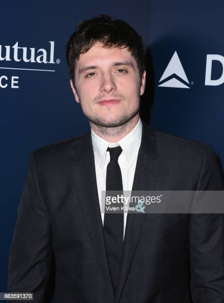Actor Josh Hutcherson attends 28th Annual GLAAD Media Awards in LA at The Beverly Hilton Hotel on April 1 2017 in Beverly Hills California