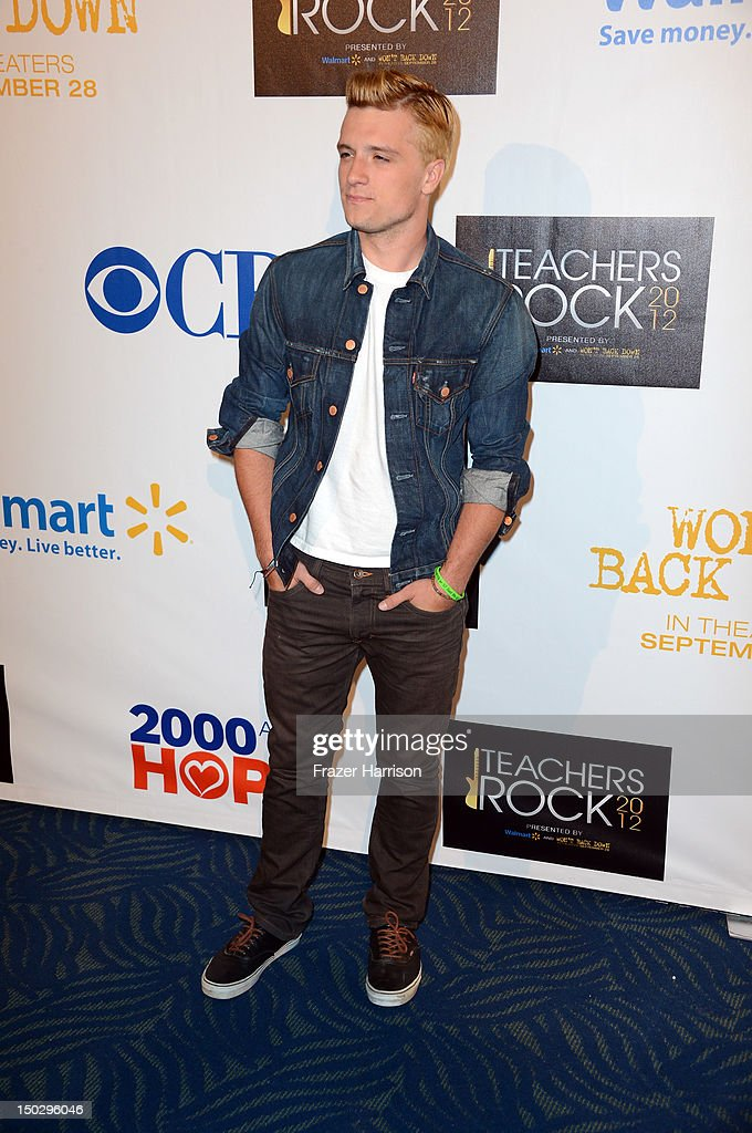 Actor Josh Hutcherson attends CBS' Teacher's Rock Special Live Concert Press Room at Nokia Theatre L.A. Live on August 14, 2012 in Los Angeles, California.