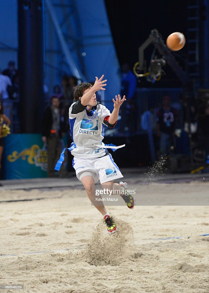 Actor Josh Hutcherson attends DIRECTV'S 7th annual celebrity Beach Bowl at DTV SuperFan Stadium at Mardi Gras World on February 2, 2013 in New Orleans, Louisiana.