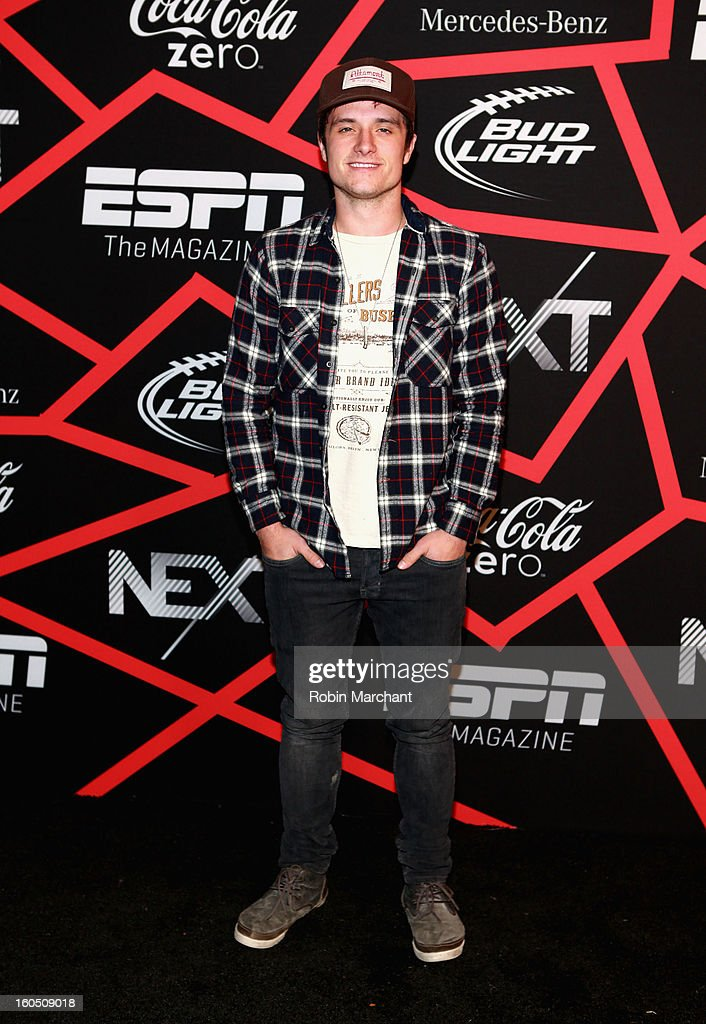 Actor <a gi-track='captionPersonalityLinkClicked' href=/galleries/search?phrase=Josh+Hutcherson&family=editorial&specificpeople=673588 ng-click='$event.stopPropagation()'>Josh Hutcherson</a> attends ESPN The Magazine's 'NEXT' Event at Tad Gormley Stadium on February 1, 2013 in New Orleans, Louisiana.