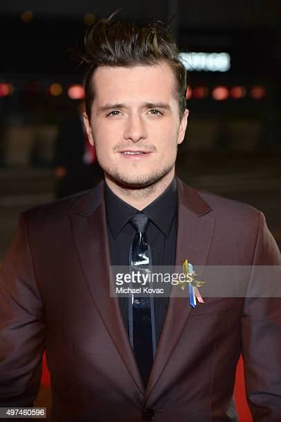 Actor Josh Hutcherson attends 'Hunger Games Mockingjay Part 2' Los Angeles Premiere Sponsored By Chrysler on November 16 2015 in Los Angeles...