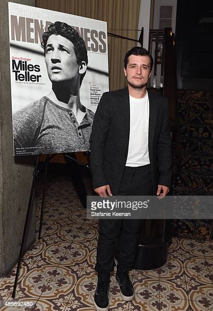 Actor Josh Hutcherson attends MEN'S FITNESS Celebration of The 2015 Game Changers on September 24 2015 in West Hollywood California