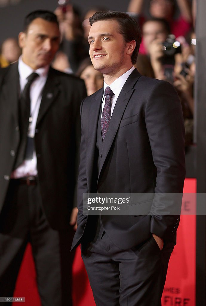 Actor <a gi-track='captionPersonalityLinkClicked' href=/galleries/search?phrase=Josh+Hutcherson&family=editorial&specificpeople=673588 ng-click='$event.stopPropagation()'>Josh Hutcherson</a> attends premiere of Lionsgate's 'The Hunger Games: Catching Fire' - Red Carpet at Nokia Theatre L.A. Live on November 18, 2013 in Los Angeles, California.