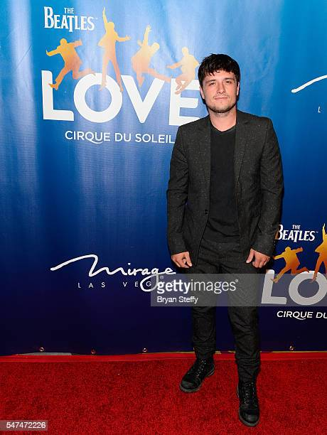 Actor Josh Hutcherson attends the 10th anniversary celebration of 'The Beatles LOVE by Cirque du Soleil' at the Mirage Hotel Casino on July 14 2016...