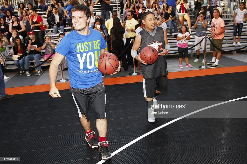 Actor <a gi-track='captionPersonalityLinkClicked' href=/galleries/search?phrase=Josh+Hutcherson&family=editorial&specificpeople=673588 ng-click='$event.stopPropagation()'>Josh Hutcherson</a> attends the 2nd Annual <a gi-track='captionPersonalityLinkClicked' href=/galleries/search?phrase=Josh+Hutcherson&family=editorial&specificpeople=673588 ng-click='$event.stopPropagation()'>Josh Hutcherson</a> Celebrity Basketball Game Benefitting Straight But Not Narrow at L.A. LIVE on August 9, 2013 in Los Angeles, California.