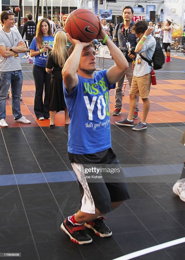 Actor Josh Hutcherson attends the 2nd Annual Josh Hutcherson Celebrity Basketball Game Benefitting Straight But Not Narrow at L.A. LIVE on August 9, 2013 in Los Angeles, California.