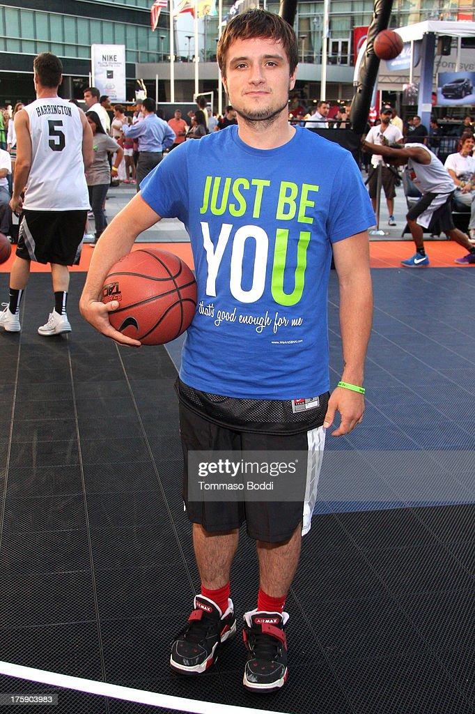 Actor <a gi-track='captionPersonalityLinkClicked' href=/galleries/search?phrase=Josh+Hutcherson&family=editorial&specificpeople=673588 ng-click='$event.stopPropagation()'>Josh Hutcherson</a> attends the 5th annual Nike basketball 3ON3 tournament presented by NBC4 southern california held at L.A. LIVE on August 9, 2013 in Los Angeles, California.