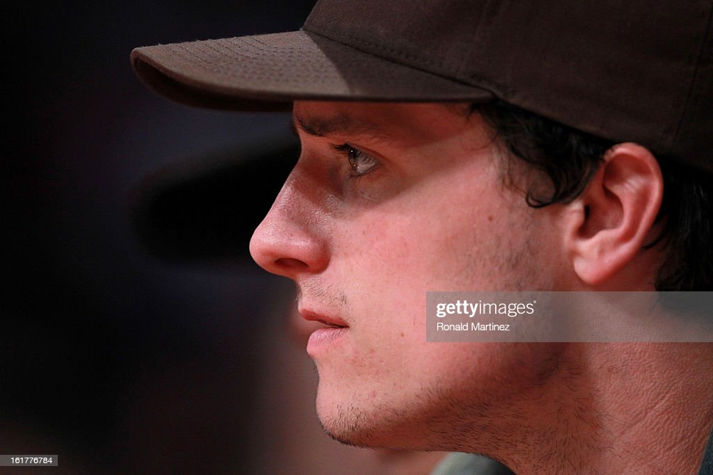 Actor Josh Hutcherson attends the BBVA Rising Stars Challenge 2013 part of the 2013 NBA All-Star Weekend at the Toyota Center on February 15, 2013 in Houston, Texas.