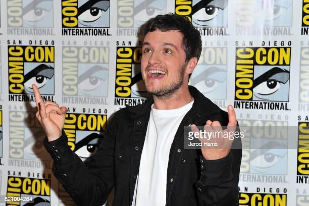 Actor Josh Hutcherson attends the Futureman press line at Comic Con 2017 Day 3 on July 22 2017 in San Diego California