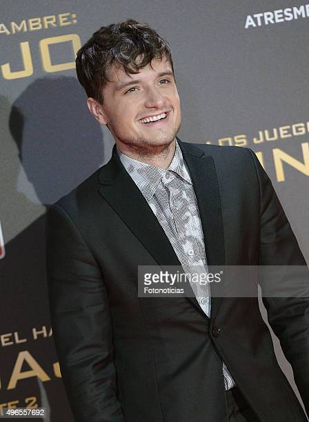 Actor Josh Hutcherson attends 'The Hunger Games Mockingjay Part 2' Madrid Premiere at Kinepolis Cinema on November 10 2015 in Madrid Spain