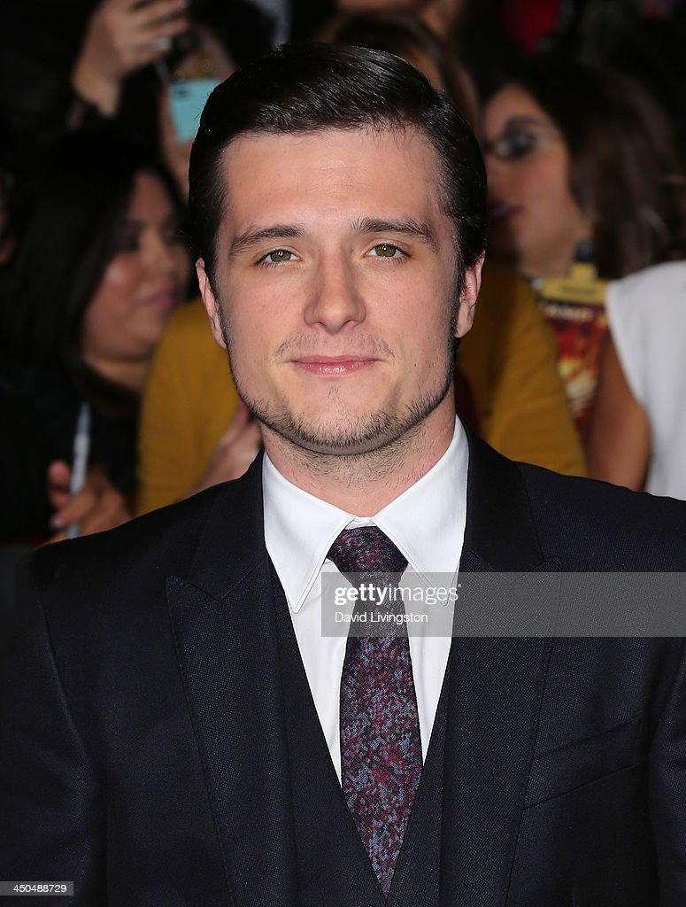 Actor Josh Hutcherson attends the premiere of Lionsgate's 'The Hunger Games: Catching Fire' at Nokia Theatre L.A. Live on November 18, 2013 in Los Angeles, California.