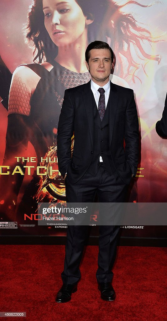 Actor Josh Hutcherson attends the premiere of Lionsgate's 'The Hunger Games: Cathching Fire' at Nokia Theatre L.A. Live on November 18, 2013 in Los Angeles, California.