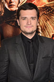 Actor Josh Hutcherson attends the Premiere of Lionsgate's 'The Hunger Games Mockingjay Part 1' at Nokia Theatre LA Live on November 17 2014 in Los...