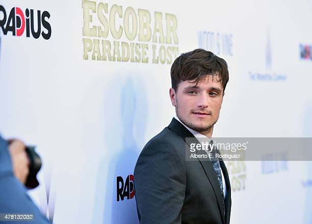 Actor Josh Hutcherson attends the premiere of RADiUS and The Weinstein Company's 'Escobar Paradise Lost' at ArcLight Hollywood on June 22 2015 in...