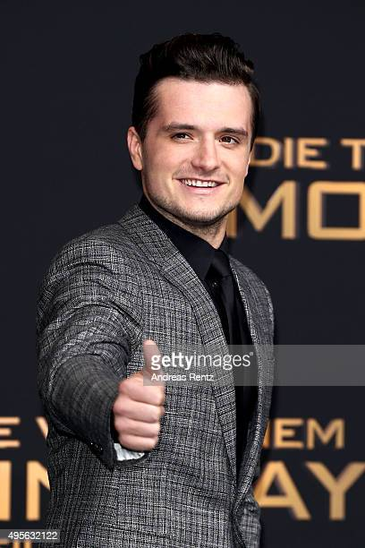 Actor Josh Hutcherson attends the world premiere of the film 'The Hunger Games Mockingjay Part 2' at CineStar on November 4 2015 in Berlin Germany