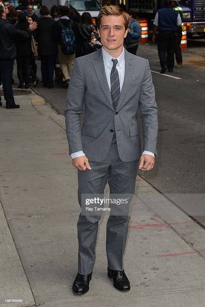 Actor Josh Hutcherson enters the 'Late Show With David Letterman' taping at the Ed Sullivan Theater on November 20, 2012 in New York City.