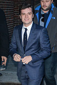 Actor Josh Hutcherson enters the 'Late Show With David Letterman' taping at the Ed Sullivan Theater on November 25 2013 in New York City