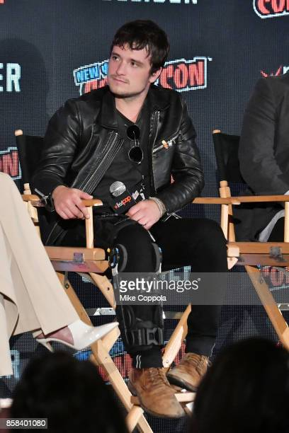 Actor Josh Hutcherson participates in Hulu's Future Man panel at New York Comic Con at Jacob Javits Center on October 6 2017 in New York City