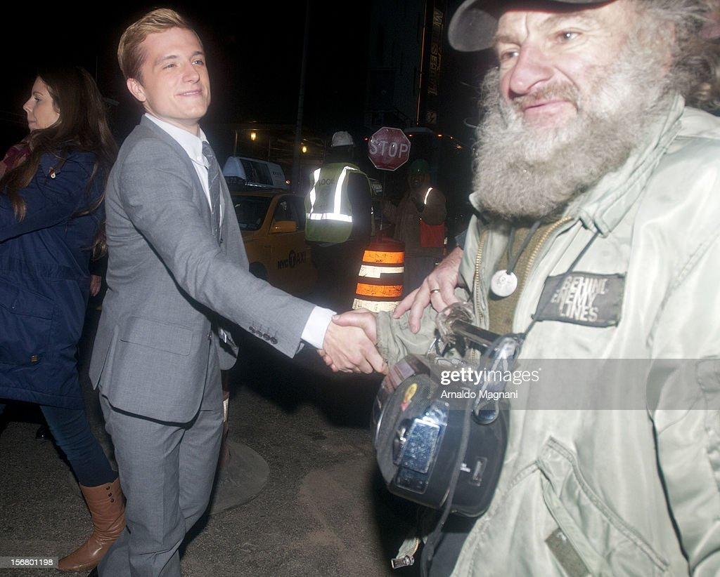 Actor Josh Hutcherson sighting on November 21, 2012 in New York City.