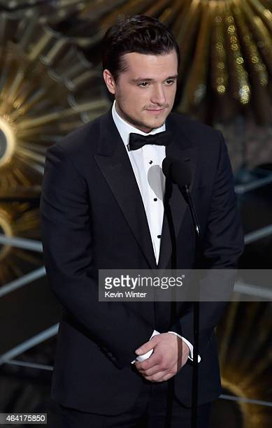 Actor Josh Hutcherson speaks onstage during the 87th Annual Academy Awards at Dolby Theatre on February 22 2015 in Hollywood California