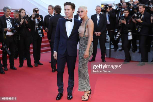 Actor Josh Kaye and director and screenwriter Kristen Stewart attend the '120 Beats Per Minute ' screening during the 70th annual Cannes Film...