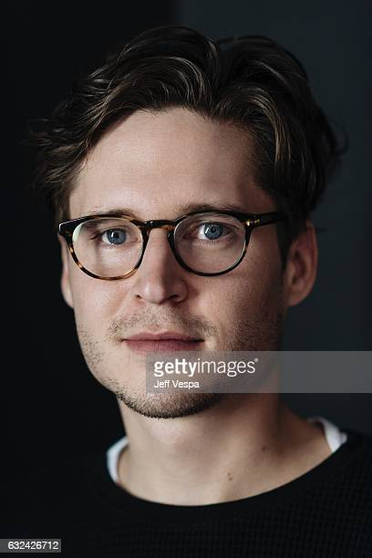 Actor Josh Kaye from the film 'Come Swim' poses for a portrait in the WireImage Portrait Studio presented by DIRECTV on January 20 2017 in Park City...