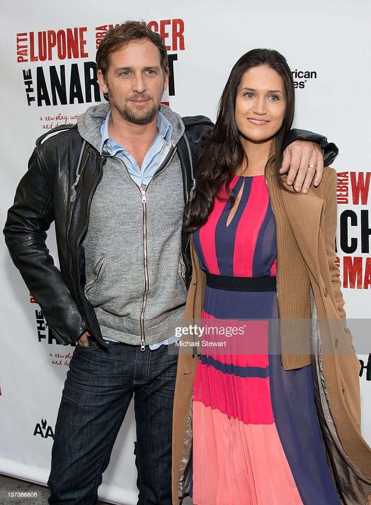 Actor Josh Lucas (L) and Jessica Ciencin Henriquez attend 'The Anarchist' Broadway Opening Night at John Golden Theatre on December 2, 2012 in New York City.