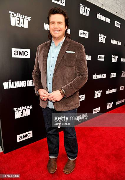 Actor Josh McDermitt attends AMC presents 'Talking Dead Live' for the premiere of 'The Walking Dead' at Hollywood Forever on October 23 2016 in...