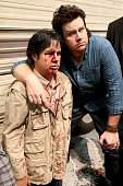 Actor Josh McDermitt poses with a wax figure of his character during ComicCon International 2016 at San Diego Convention Center on July 22 2016 in...
