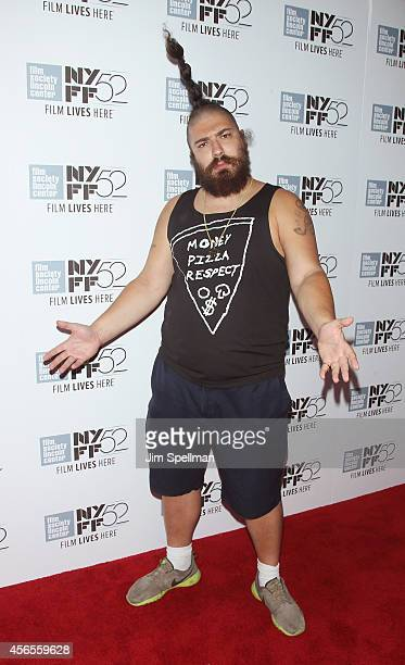 Actor Josh Ostrovsky aka The Fat Jew attends the 'Heaven Knows What' Premiere during the 52nd New York Film Festival at Alice Tully Hall on October 2...