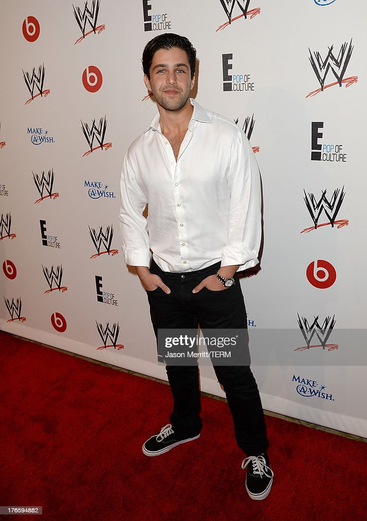 Actor <a gi-track='captionPersonalityLinkClicked' href=/galleries/search?phrase=Josh+Peck&family=editorial&specificpeople=210522 ng-click='$event.stopPropagation()'>Josh Peck</a> attends WWE & E! Entertainment's 'SuperStars For Hope' at the Beverly Hills Hotel on August 15, 2013 in Beverly Hills, California.