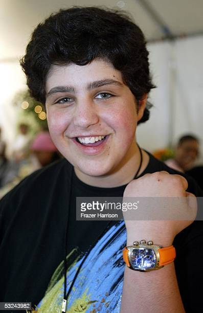 Actor Josh Peck with products at the Distinctive Assets lounge for Nickelodeons' Kid's Choice Awards on April 3 2004 in Westwood California