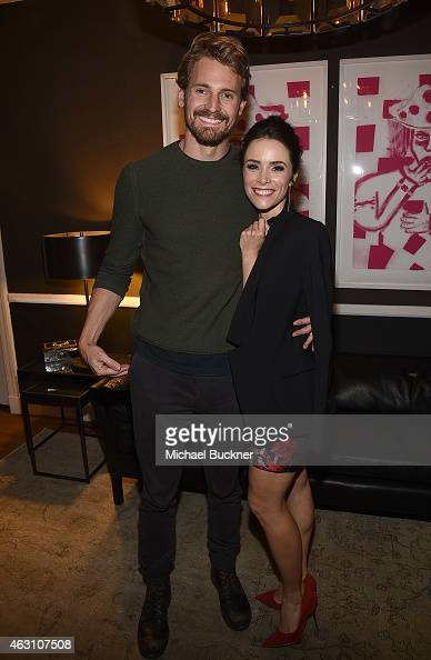 Actor Josh Pence and actress Abigail Spencer attend the Dinner and Conversation with the creators of Sundance Channel's 'Rectify' hosted by Jennifer...