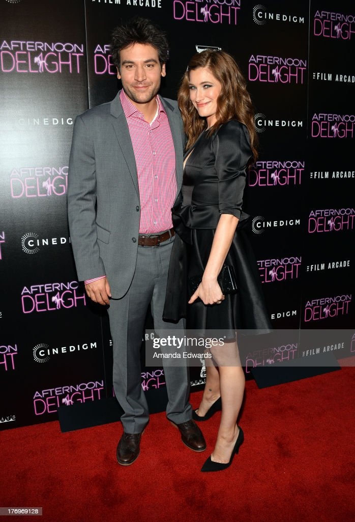 Actor <a gi-track='captionPersonalityLinkClicked' href=/galleries/search?phrase=Josh+Radnor&family=editorial&specificpeople=599413 ng-click='$event.stopPropagation()'>Josh Radnor</a> (L) and actress <a gi-track='captionPersonalityLinkClicked' href=/galleries/search?phrase=Kathryn+Hahn&family=editorial&specificpeople=221548 ng-click='$event.stopPropagation()'>Kathryn Hahn</a> arrive at the Los Angeles premiere of 'Afternoon Delight' at ArcLight Hollywood on August 19, 2013 in Hollywood, California.