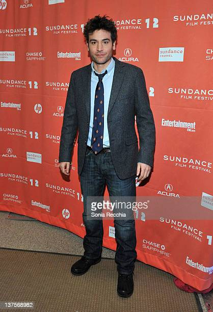 Actor Josh Radnor arrives at 'Liberal Arts' Premiere during the 2012 Sundance Film Festival at Eccles Center Theatre on January 22 2012 in Park City...