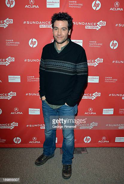 Actor Josh Radnor attends the 'Afternoon Delight' premiere at Eccles Center Theatre during the 2013 Sundance Film Festival on January 21 2013 in Park...