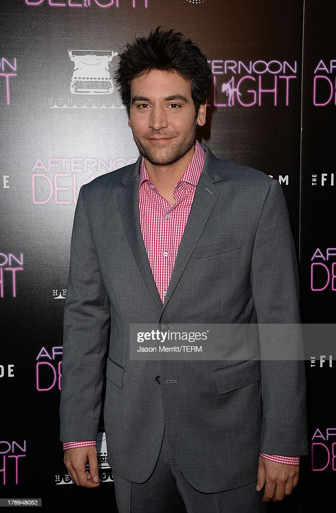 Actor <a gi-track='captionPersonalityLinkClicked' href=/galleries/search?phrase=Josh+Radnor&family=editorial&specificpeople=599413 ng-click='$event.stopPropagation()'>Josh Radnor</a> attends the premiere of the Film Arcade and Cinedigm's 'Afternoon Delight' at ArcLight Hollywood on August 19, 2013 in Hollywood, California.