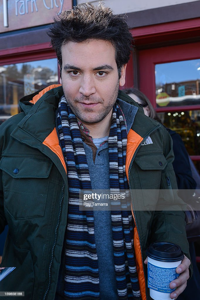 Actor Josh Radnor leaves the Grey Goose lounge on January 21, 2013 in Park City, Utah.