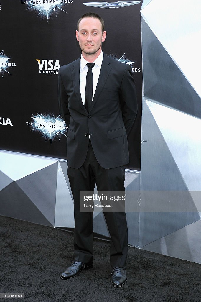 Actor <a gi-track='captionPersonalityLinkClicked' href=/galleries/search?phrase=Josh+Stewart+-+Actor&family=editorial&specificpeople=234327 ng-click='$event.stopPropagation()'>Josh Stewart</a> attends 'The Dark Knight Rises' premiere at AMC Lincoln Square Theater on July 16, 2012 in New York City.