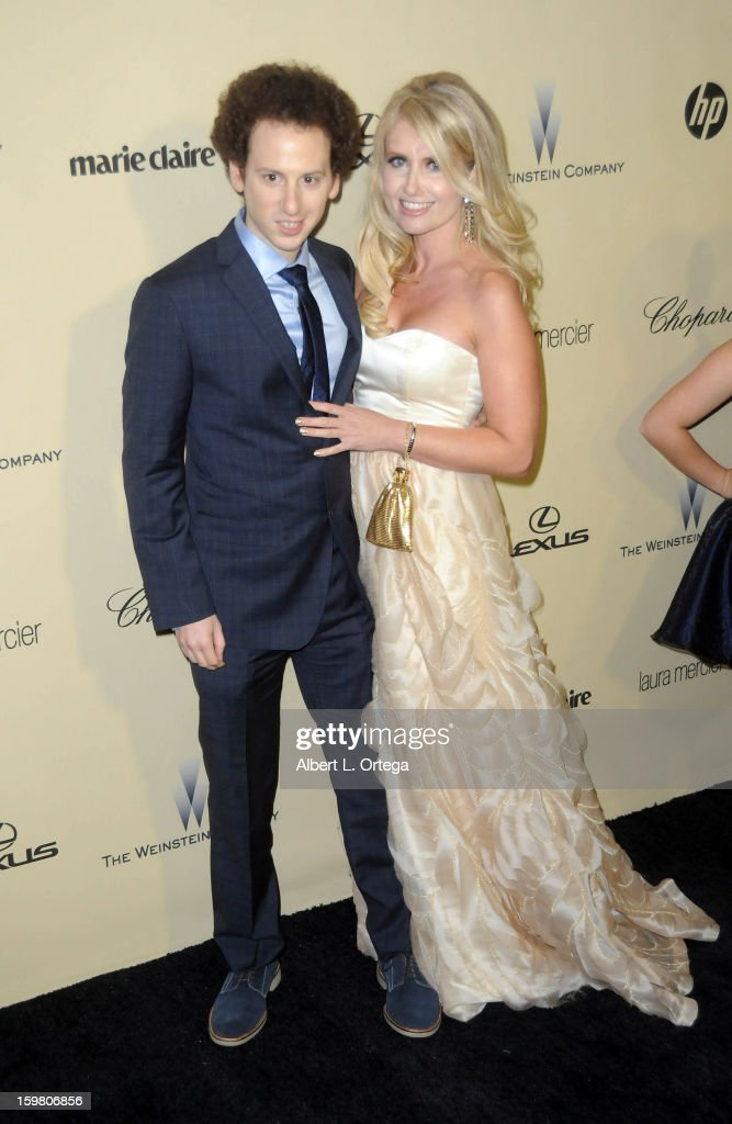 Actor Josh Sussman and actress Tess Hunt arrive for the Weinstein Company's 2013 Golden Globe Awards After Party - Arrivals on January 13, 2013 in Beverly Hills, California.