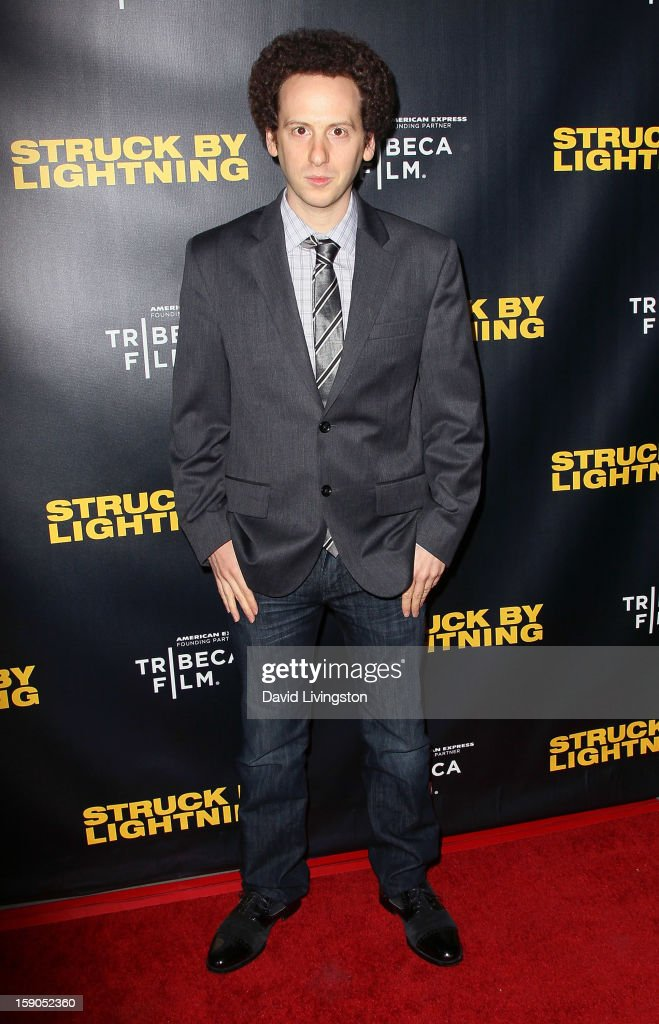Actor Josh Sussman attends a screening of Tribeca Film's 'Struck By Lightning' at Mann Chinese 6 on January 6, 2013 in Los Angeles, California.