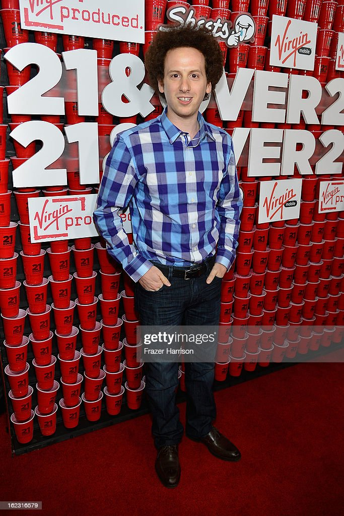 Actor Josh Sussman attends Relativity Media's '21 and Over' premiere at Westwood Village Theatre on February 21 2013 in Westwood California
