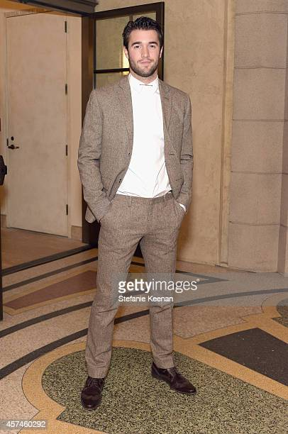 Actor Joshua Bowman attends the 24th Annual Environmental Media Awards presented by Toyota and Lexus at Warner Bros Studio on October 18 2014 in...